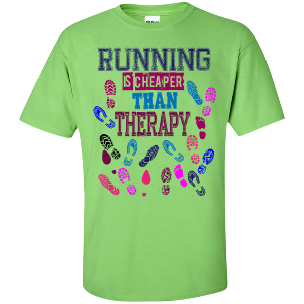 RUNNING THERAPY - Custom Ultra Cotton T-Shirt - GoneBold.gift