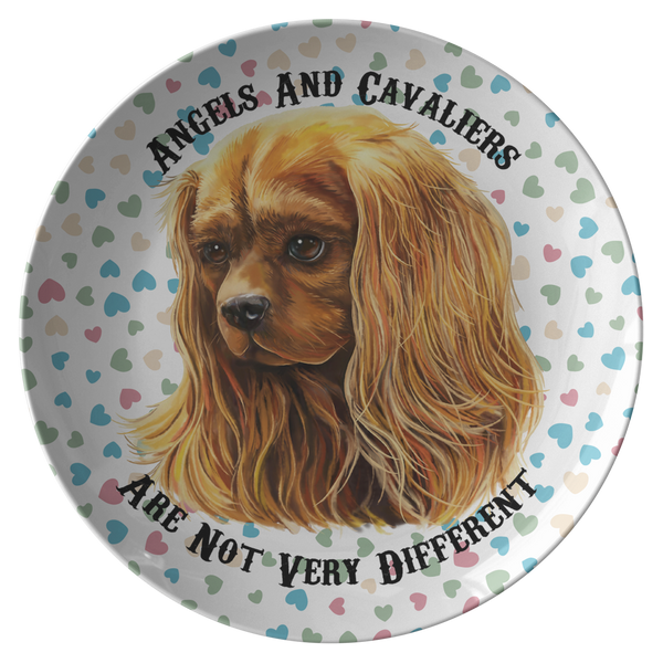 Cavalier King Charles Spaniel Gifts - Ruby Cavalier Dinner Plate - Angels and Cavaliers