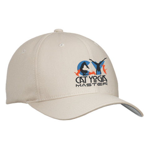 CAT YOGA MASTER - Flex Fit Twill Baseball Cap - GoneBold.gift