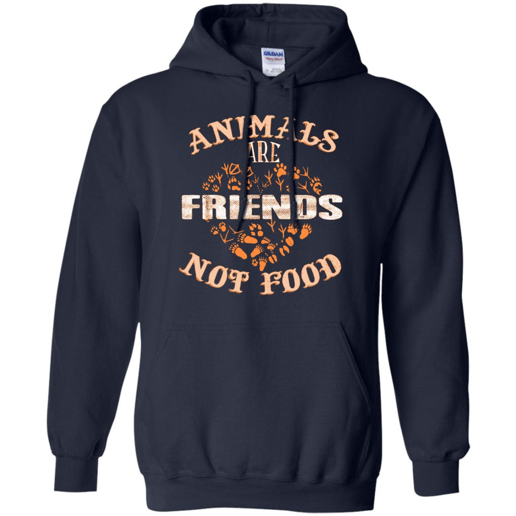 Animals Are Friends Not Food - Pullover Hoodie 8 oz - GoneBold.gift