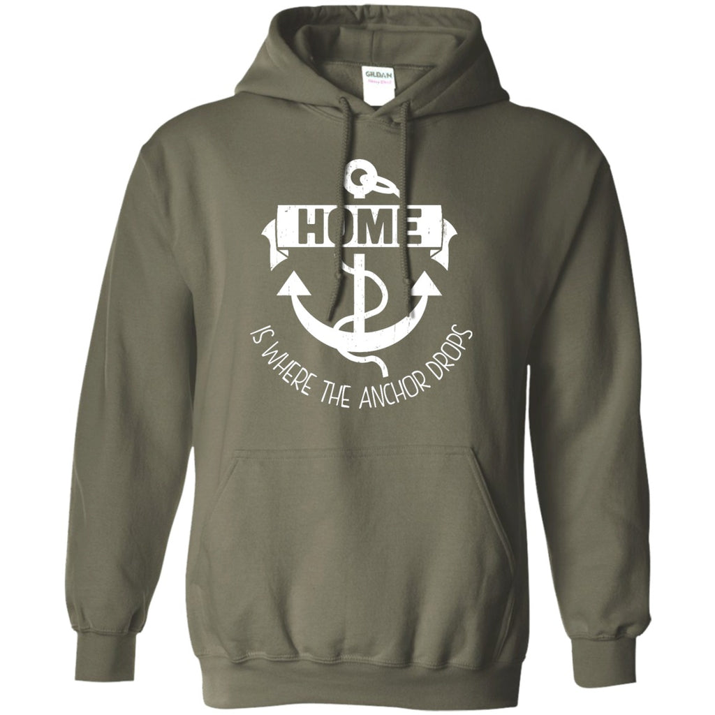 Home Is Where The Anchor Drops Pullover Hoodie 8 oz - GoneBold.gift