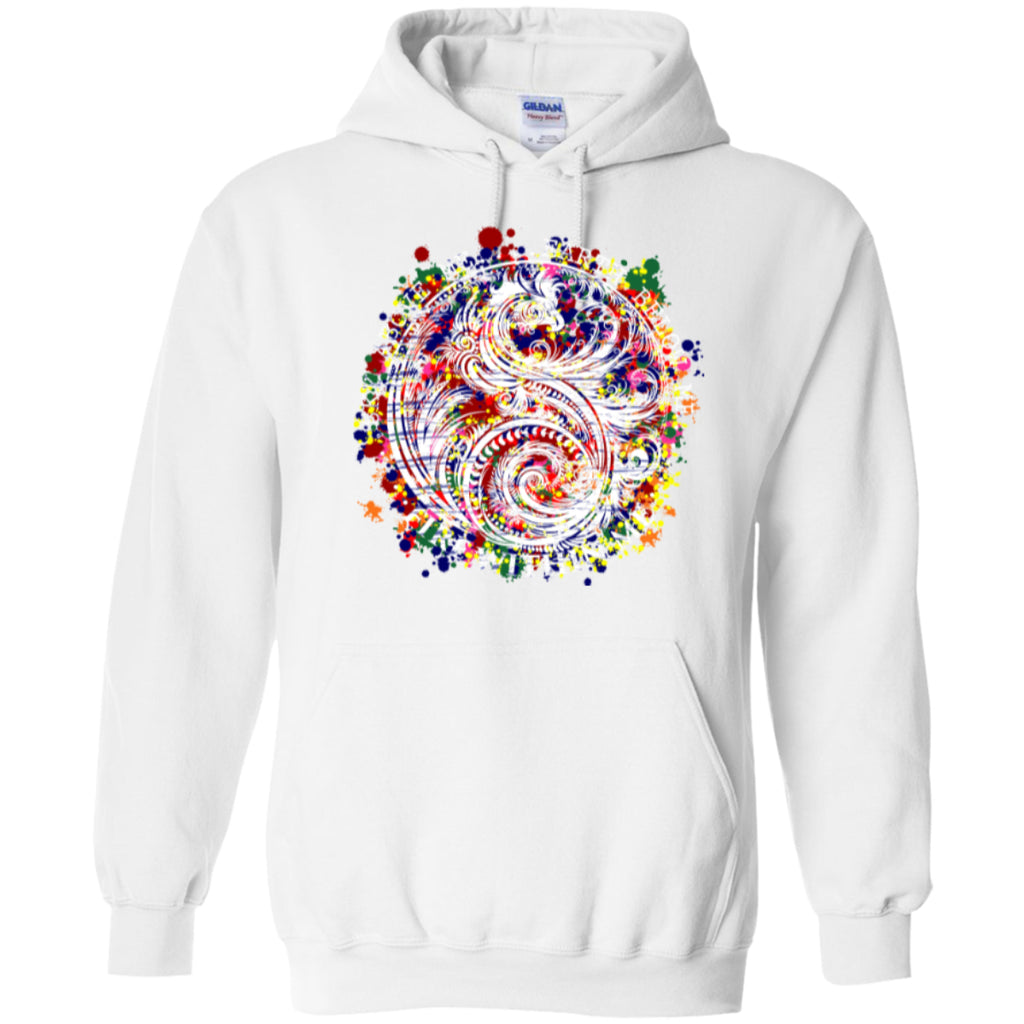 Yin Yang Dragon Swirl Colors - Pullover Hoodie 8 oz - GoneBold.gift