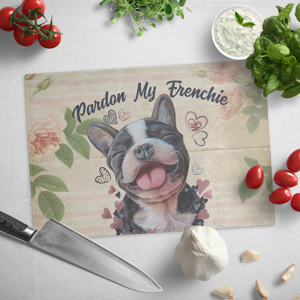 Cutting Board , French Bulldog Gifts, Pardon My Frenchie, Funny gift for dog mom, dog dad - GoneBold.gift