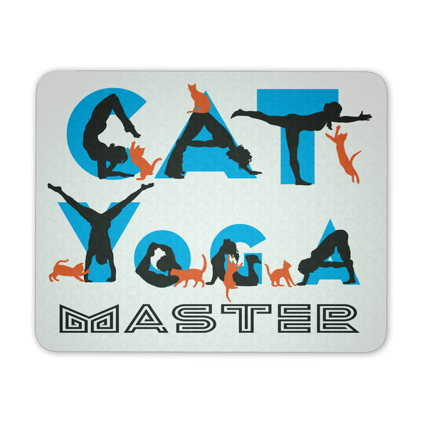 Cat Yoga Master Mouse Pad