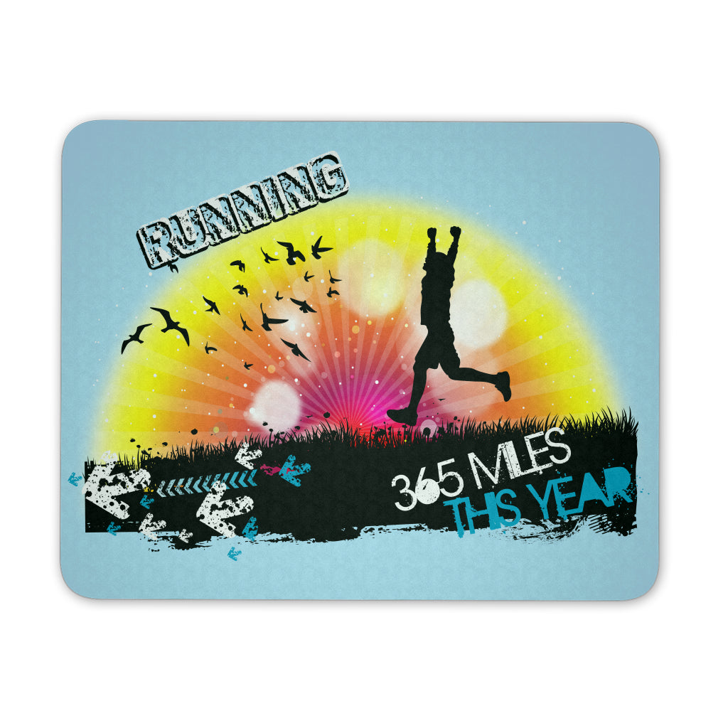 Running 365 Miles This Year - Mouse Pad - GoneBold.gift