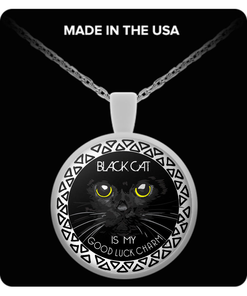 BLACK CAT Is My Good Luck Charm - Pendant With Necklace - GoneBold.gift