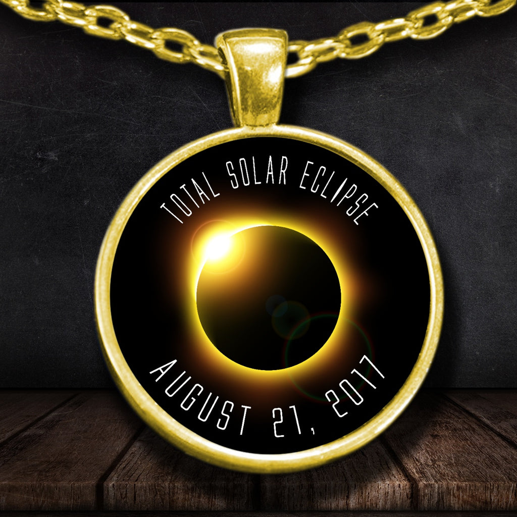 Solar Eclipse Necklace 2017 Gold Plated - GoneBold.gift