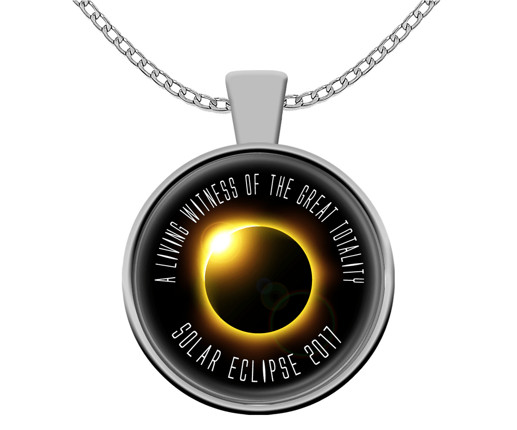 Solar Eclipse Necklace - A Living Witness Gold Eclipse Souvenir - GoneBold.gift
