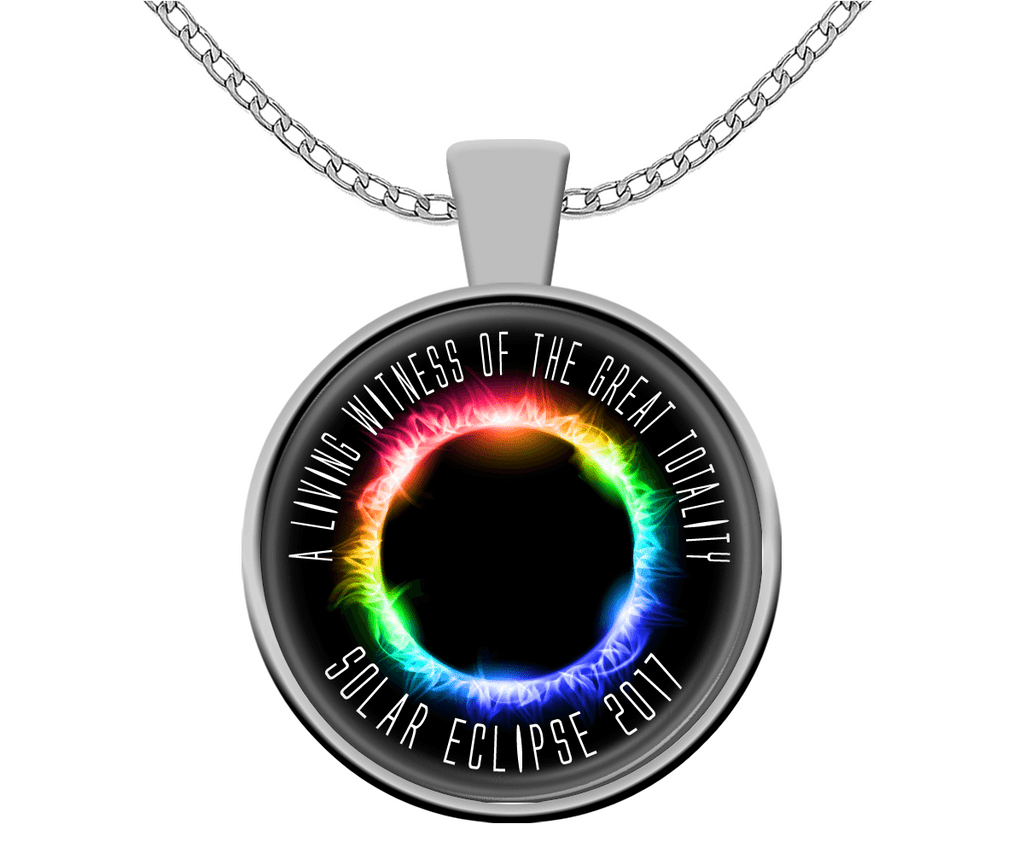 Solar Eclipse Necklace - A Living Witness Silver - Memorabilia - GoneBold.gift