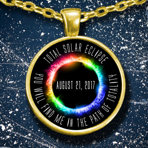 Necklace - Solar Eclipse Necklace Path Of Totality Gld Necklace