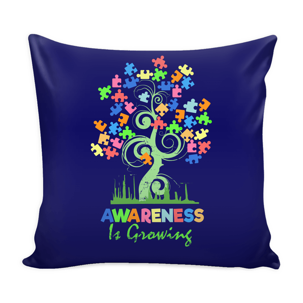 Awareness Is Growing Pillow Cover - Case only - GoneBold.gift