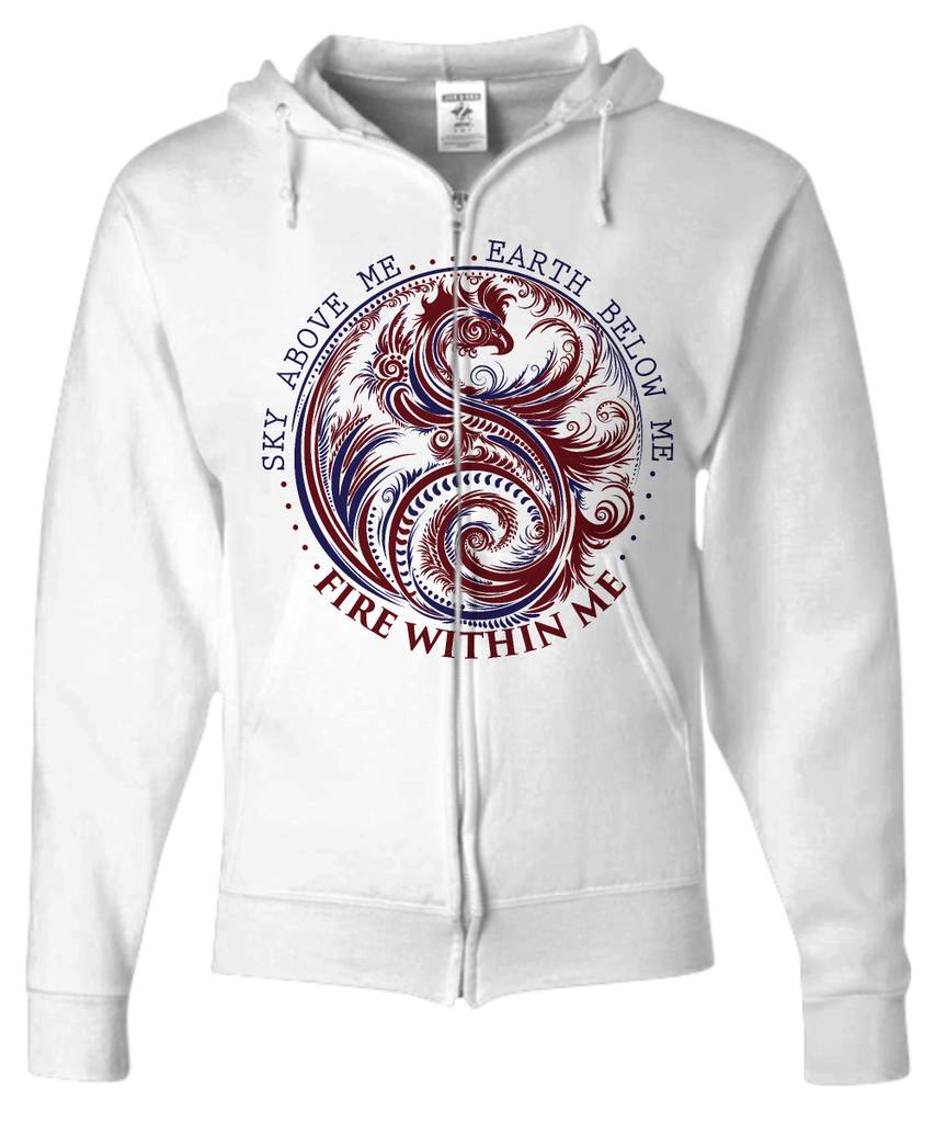 Fire Within Me - Unisex Zip Hoodie - GoneBold.gift