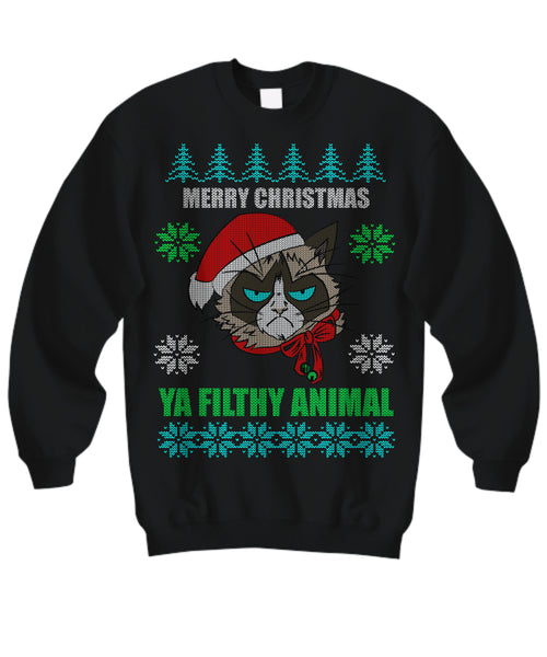 Merry Christmas Ya Filthy Animals - Ugly Christmas Sweater