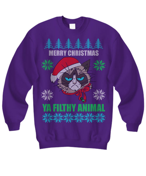 Shirt / Hoodie - Merry Christmas Ya Filthy Animals - Ugly Christmas Sweater
