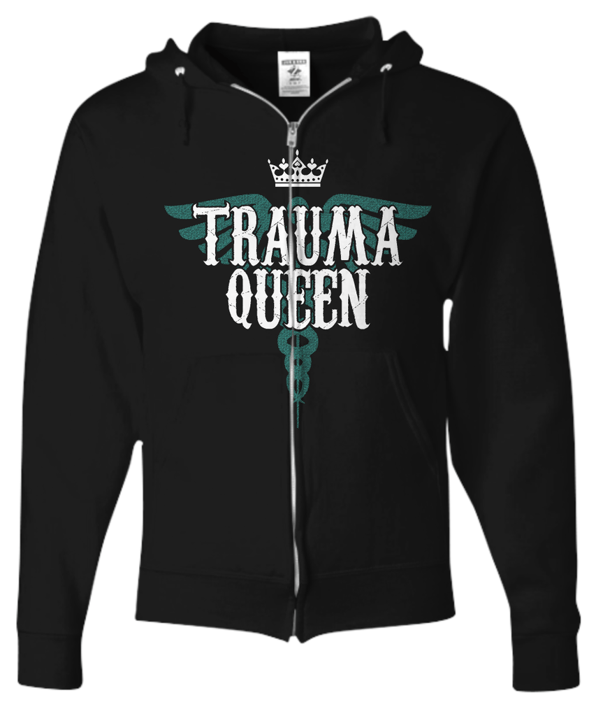 Nurse Gifts Trauma Queen Zip Hoodie - GoneBold.gift