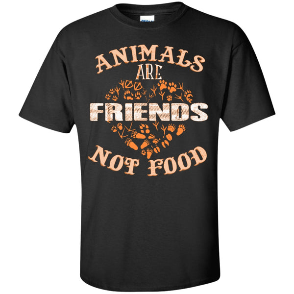 Animals Are Friends Not Food - Custom Ultra Cotton T-Shirt
