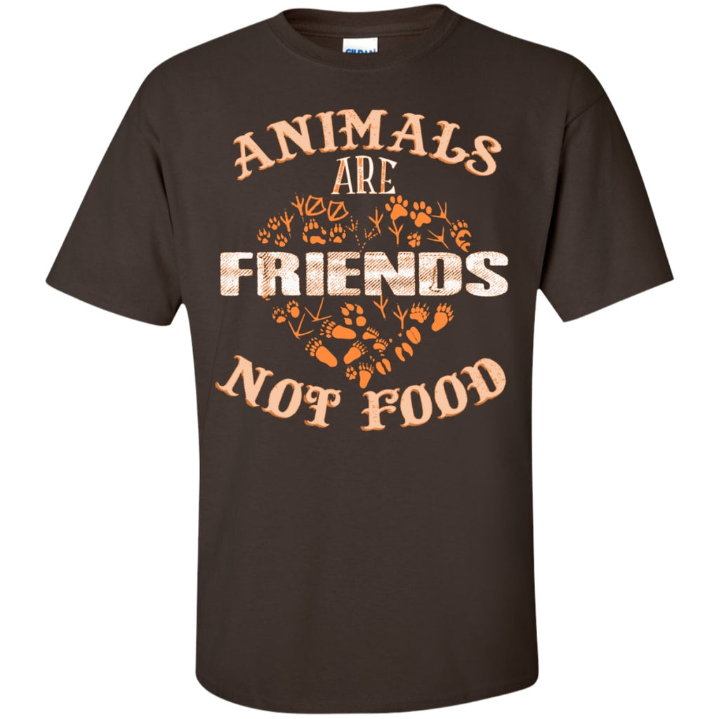 Animals Are Friends Not Food - Custom Ultra Cotton T-Shirt - GoneBold.gift