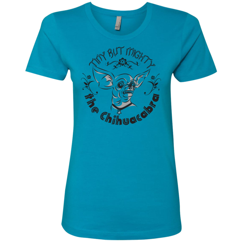 Tiny But Mighty The Chihuacabra - Next Level Ladies' Boyfriend Tee - GoneBold.gift