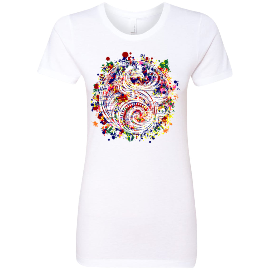 Yin Yang Dragon Swirl Colors - Next Level Ladies' Boyfriend Tee - GoneBold.gift