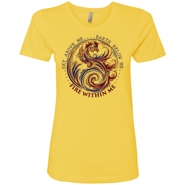 Yin Yang Dragon Swirl Dark - Next Level Ladies' Boyfriend Tee -  - 5