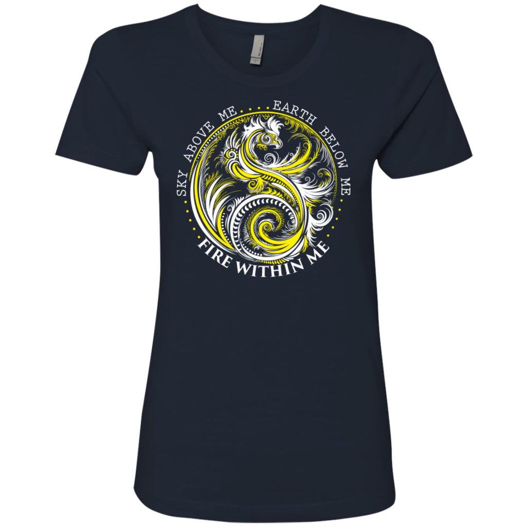 Yin Yang Dragon Yellow - Next Level Ladies' Boyfriend Tee - GoneBold.gift