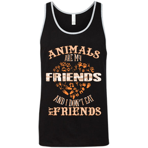 Animals Are My Friends - Bella+Canvas Unisex Tank - GoneBold.gift