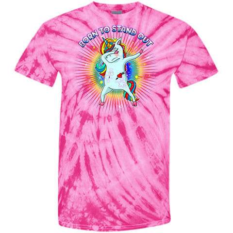 Born To Stand Out Unicorn Dabbing Shirts 100% Cotton Tie Dye T-Shirt - GoneBold.gift