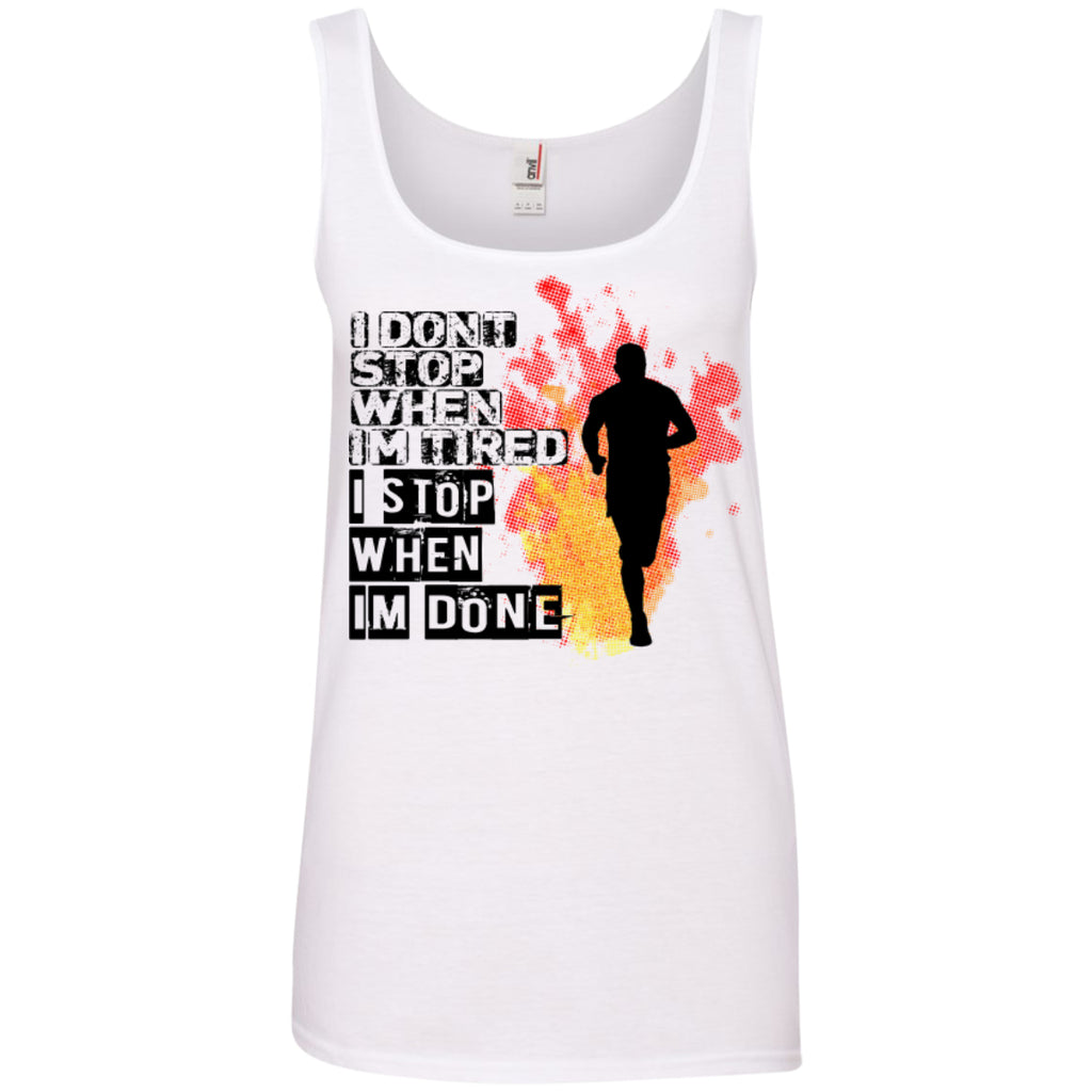 I DON'T STOP - Ladies' 100% Ringspun Cotton Tank Top - GoneBold.gift