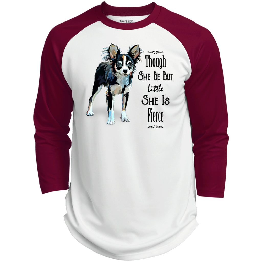 Though She Be But Little She Is Fierce Chihuahua Polyester Game Baseball Jersey - GoneBold.gift
