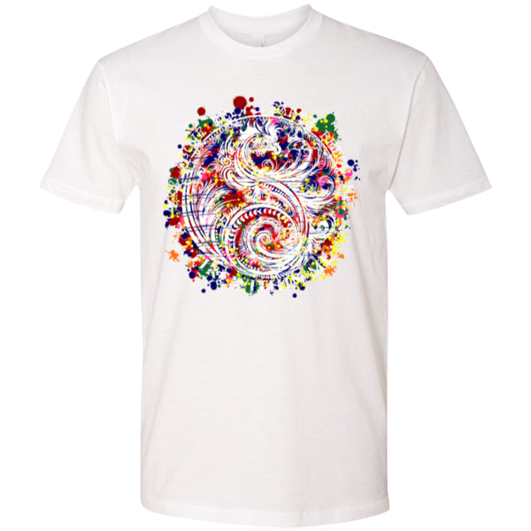 Yin Yang Dragon Swirl Colors - Next Level Premium Short Sleeve Tee - GoneBold.gift