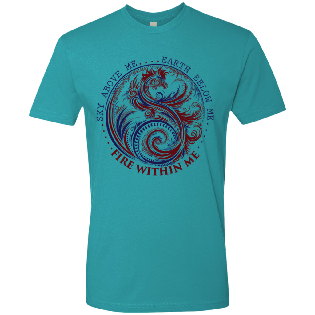 Yin Yang Dragon Swirl Dark - Next Level Premium Short Sleeve Tee - GoneBold.gift