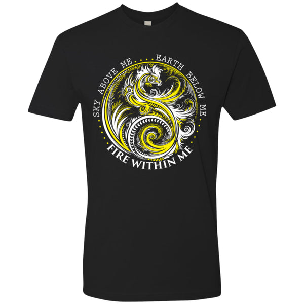Yin Yang Dragon Yellow - Next Level Premium Short Sleeve Tee - GoneBold.gift