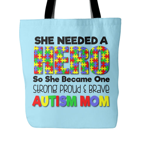 Autism Mom - Hero - Shopping Tote - GoneBold.gift