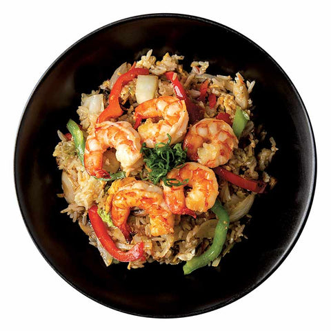 WOK Japanese with shrimps