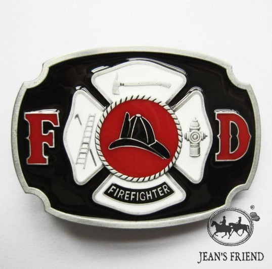 Men's Metal Western Belt Buckle Nice Christmas Valentines Gift For Our Hero Classic FIREFIGHTER FD Fire Department Distribute