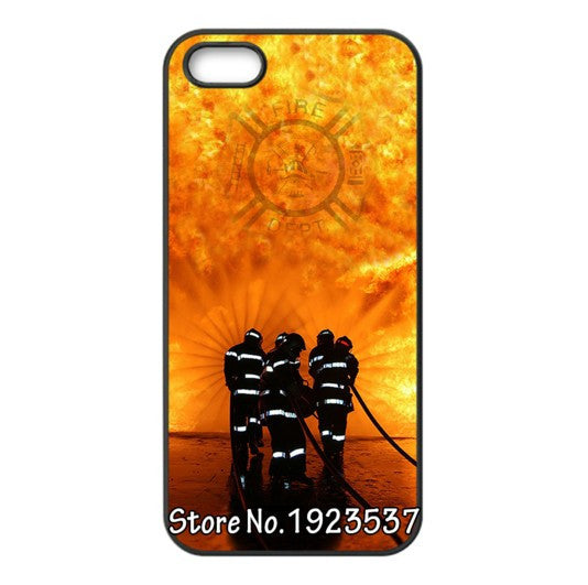 Fit For iphone 5s Case and 4s case iphone6 case Fire Department FD Hero Logo