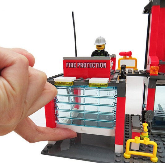 Alarm Educational Toys Birthday Gift Brinquedo City Fire Department Building Blocks Compatible With LEGO Fire