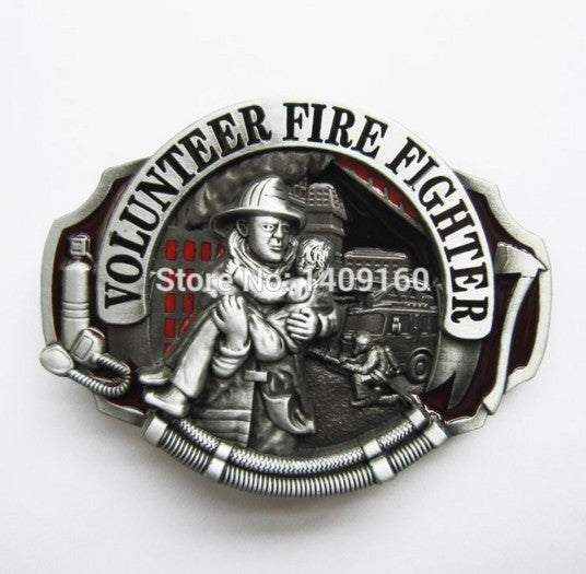 Men Belt Buckle (Volunteer Firefighter) Gurtelschnalle Boucle de ceinture