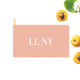 LINY Blush Zip Clutch