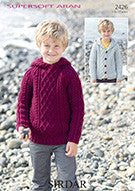 Sirdar Childrens Knitting Pattern - 2426