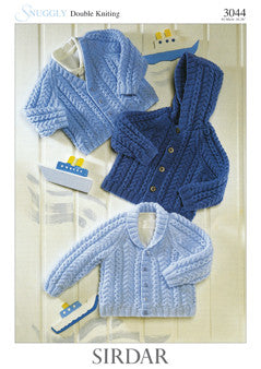 Sirdar Snuggly Knitting Pattern 3044
