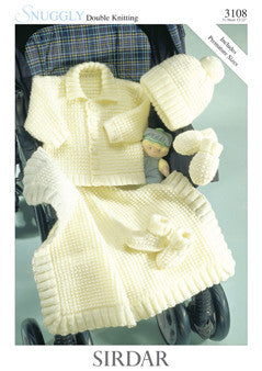 Sirdar Snuggly Knitting Pattern 3108