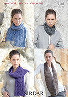 Women's snoods and scarf knitting pattern by Sirdar 7183