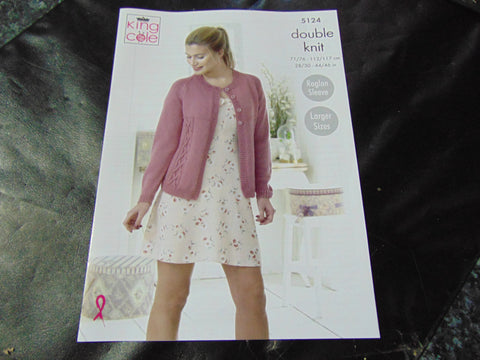 King Cole Double Knit Pattern 5124 Sweater and Cardigan