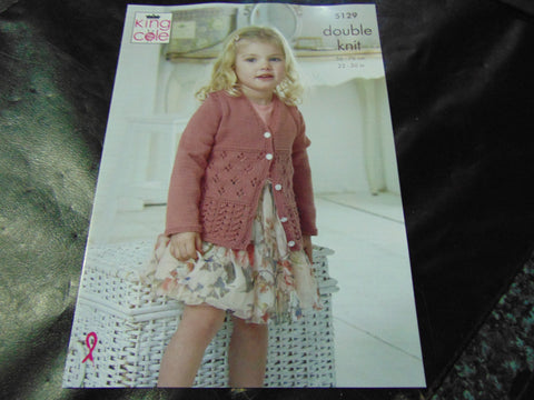 King Cole Double Knitting Pattern 5129 Cardigans