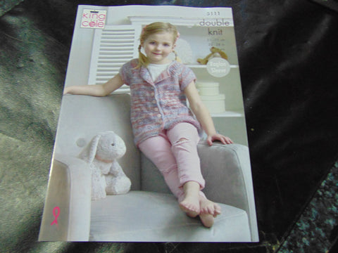 King Cole Double Knitting Pattern 5111 Cardigan and Smock Top