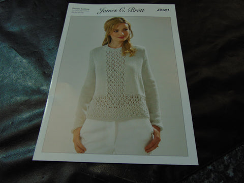 James C Brett Double Knitting Sweater Pattern JB521