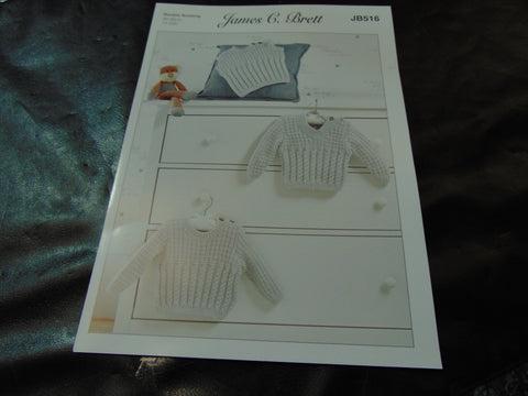 James C Brett Double Knitting Pattern JB516