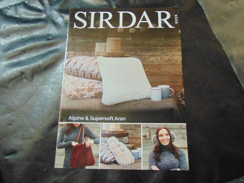 Sirdar Alpine Knitting Pattern 8205 Accessories