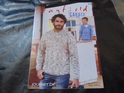 Hayfield Journey Double Knitting Pattern 8190